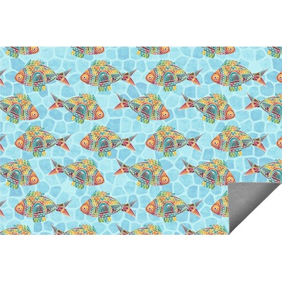 Mosaic Fish Indoor / Outdoor Rug