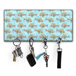 Mosaic Fish Key Hanger w/ 4 Hooks (Personalized)
