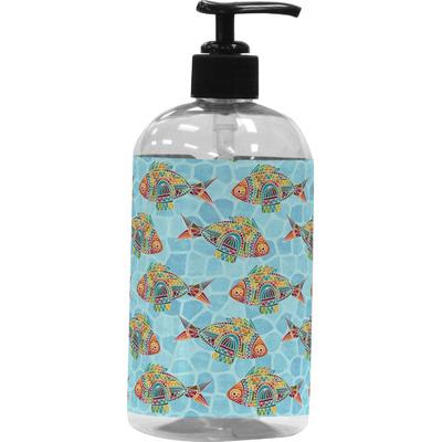 Mosaic fish plastic soap lotion dispenser personalized for Fish soap dispenser