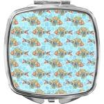 Mosaic Fish Compact Makeup Mirror