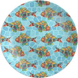 "Mosaic Fish Melamine Plate - 8"" (Personalized)"