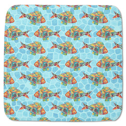 "Mosaic Fish Memory Foam Bath Mat - 48""x48"" (Personalized)"