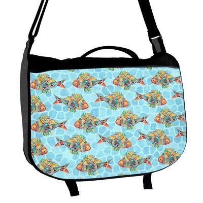 Mosaic Fish Messenger Bag