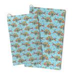 Mosaic Fish Microfiber Golf Towel