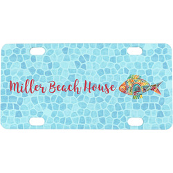 Mosaic Fish Mini / Bicycle License Plate (Personalized)