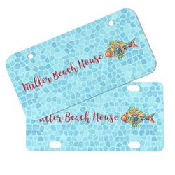 Mosaic Fish Mini/Bicycle License Plates