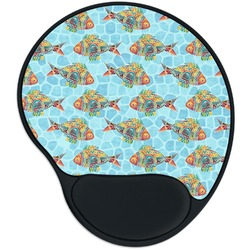 Mosaic Fish Mouse Pad with Wrist Support