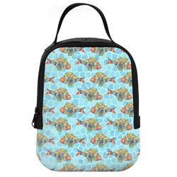 Mosaic Fish Neoprene Lunch Tote (Personalized)