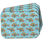 Mosaic Fish Dining Table Mat - Octagon