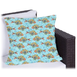 Mosaic Fish Outdoor Pillow (Personalized)