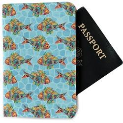 Mosaic Fish Passport Holder - Fabric