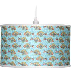 Mosaic Fish Drum Pendant Lamp (Personalized)