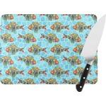 Mosaic Fish Rectangular Glass Cutting Board