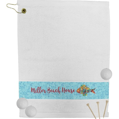 Mosaic Fish Golf Bag Towel