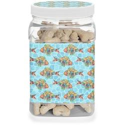 Mosaic Fish Dog Treat Jar