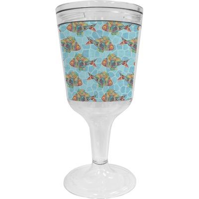 Mosaic Fish Wine Tumbler - 11 oz Plastic