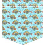 Mosaic Fish Iron On Faux Pocket (Personalized)
