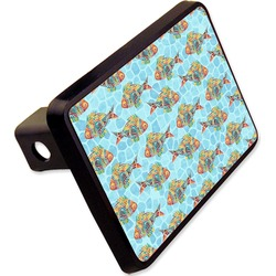 """Mosaic Fish Rectangular Trailer Hitch Cover - 2"""" (Personalized)"""