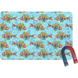 Mosaic Fish Rectangular Fridge Magnet (Personalized)