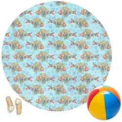 Mosaic Fish Round Beach Towel (Personalized)