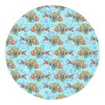Mosaic Fish Round Decal
