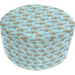 Mosaic Fish Round Pouf Ottoman (Personalized)