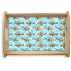 Mosaic Fish Natural Wooden Tray (Personalized)