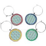 Mosaic Fish Wine Charms (Set of 4)