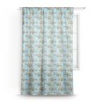 Mosaic Fish Sheer Curtains