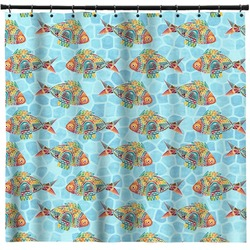 Mosaic Fish Shower Curtain (Personalized)