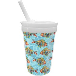 Mosaic Fish Sippy Cup with Straw