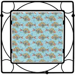 Mosaic Fish Square Trivet (Personalized)