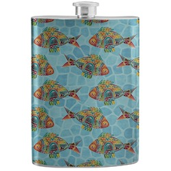 Mosaic Fish Stainless Steel Flask (Personalized)