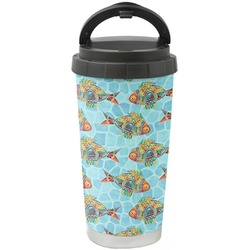 Mosaic Fish Stainless Steel Travel Mug (Personalized)