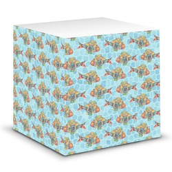 Mosaic Fish Sticky Note Cube (Personalized)