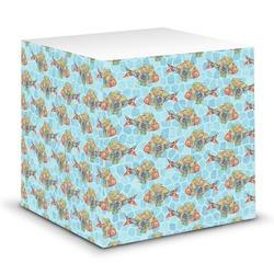 Mosaic Fish Sticky Note Cube