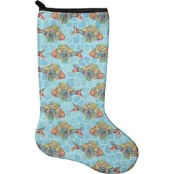 Mosaic Fish Christmas Stocking - Neoprene (Personalized)