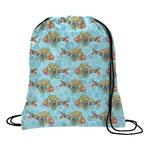 Mosaic Fish Drawstring Backpack