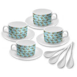 Mosaic Fish Tea Cup - Set of 4 (Personalized)