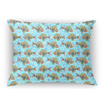 Mosaic Fish Rectangular Throw Pillow Case