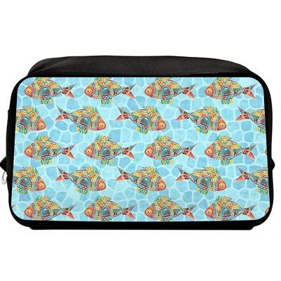 Mosaic Fish Toiletry Bag / Dopp Kit