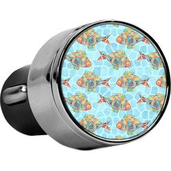 Mosaic Fish USB Car Charger (Personalized)