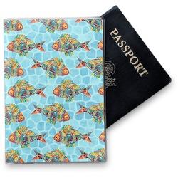 Mosaic Fish Vinyl Passport Holder