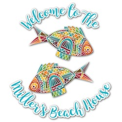 Mosaic Fish Graphic Decal - Custom Sized (Personalized)
