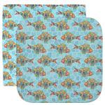 Mosaic Fish Facecloth / Wash Cloth