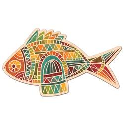 Mosaic Fish Genuine Maple or Cherry Wood Sticker