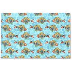 Mosaic Fish Woven Mat (Personalized)