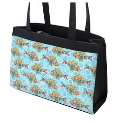 Mosaic Fish Zippered Everyday Tote (Personalized)