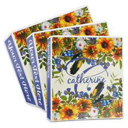 Sunflowers 3-Ring Binder (Personalized)