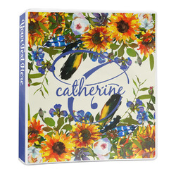 Sunflowers 3-Ring Binder - 1 inch (Personalized)